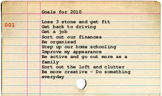 Goals for 2010 card