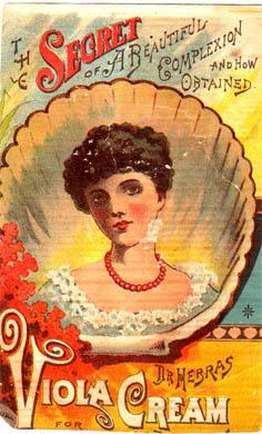 Vintage ephemera - Viola cream